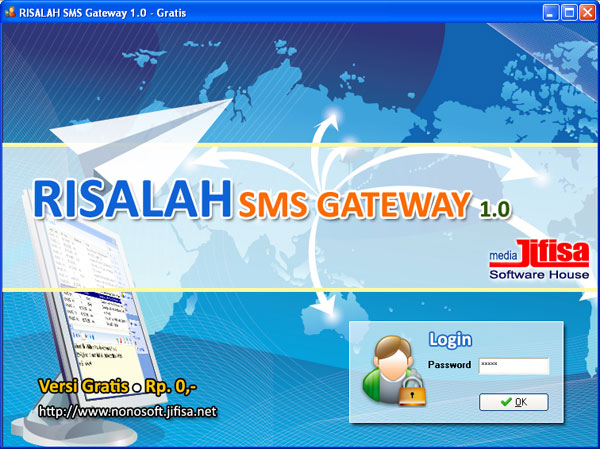 Software SMS Gateway RISALAH versi Gratis - 1